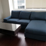 navy couch and table